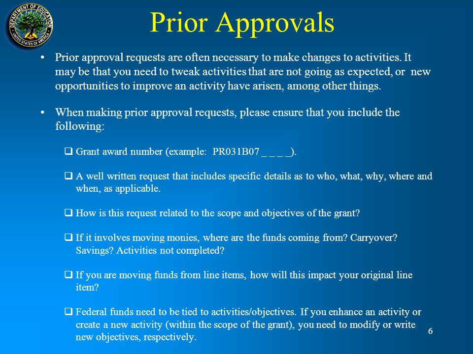 Prior Approvals