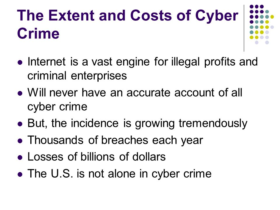 The Extent and Costs of Cyber Crime