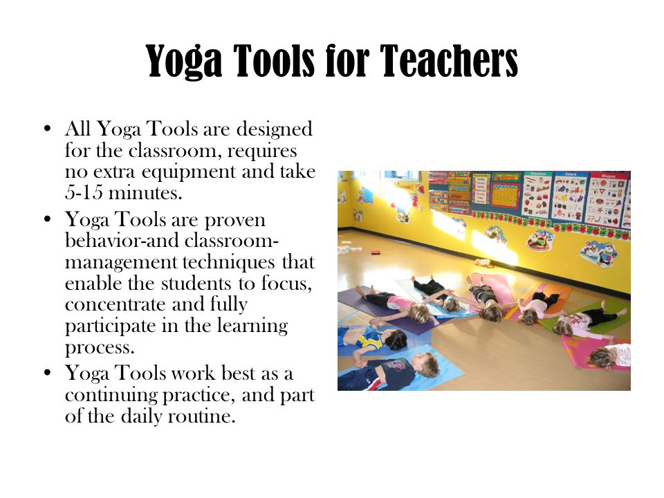 Yoga Tools for Teachers