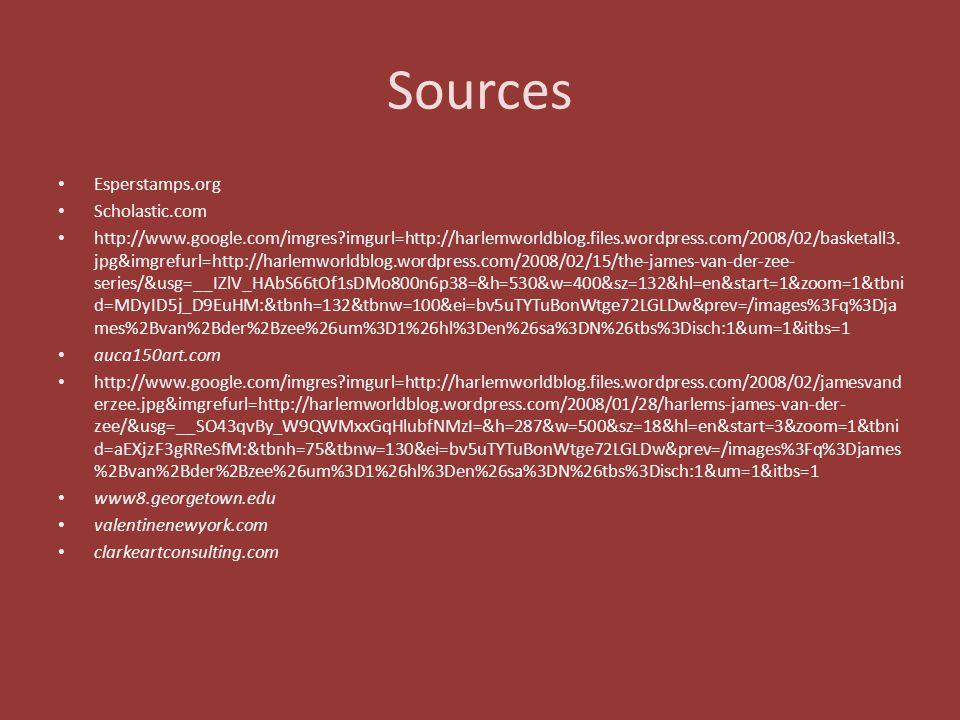 Sources Esperstamps.org Scholastic.com
