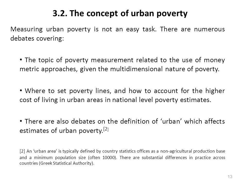3.2. The concept of urban poverty