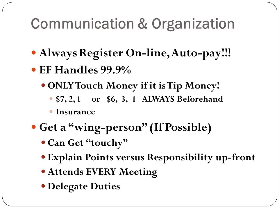 Communication & Organization