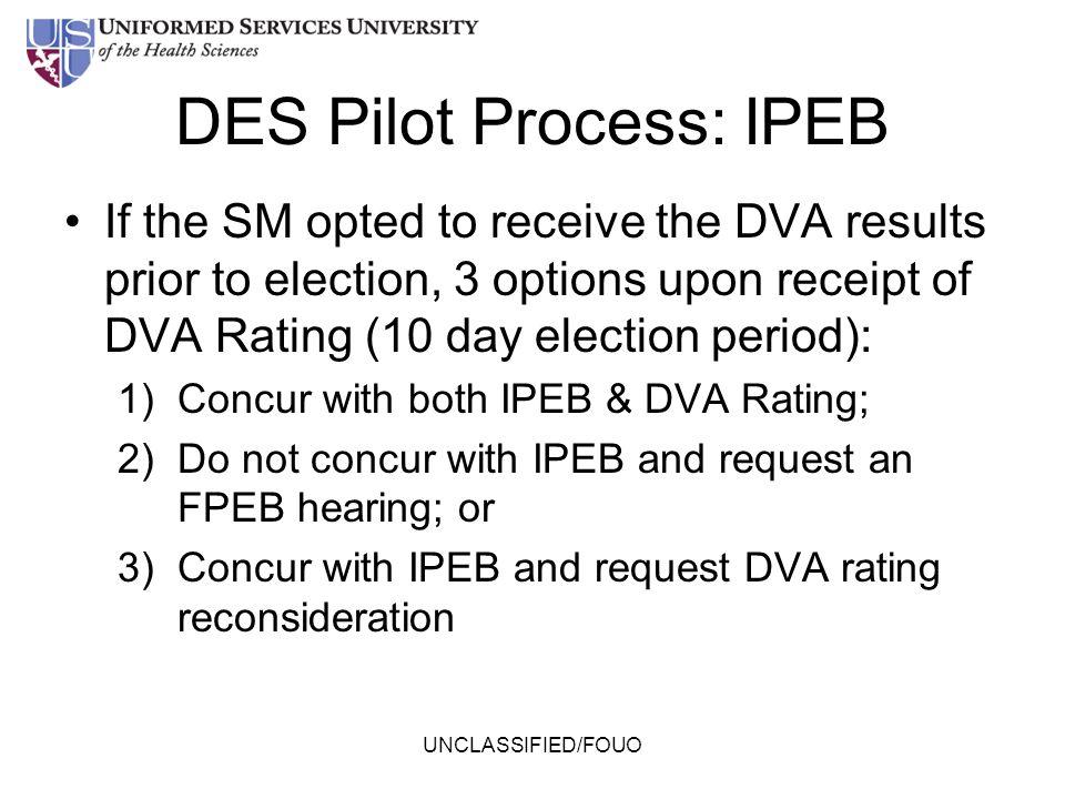 DES Pilot Process: IPEB