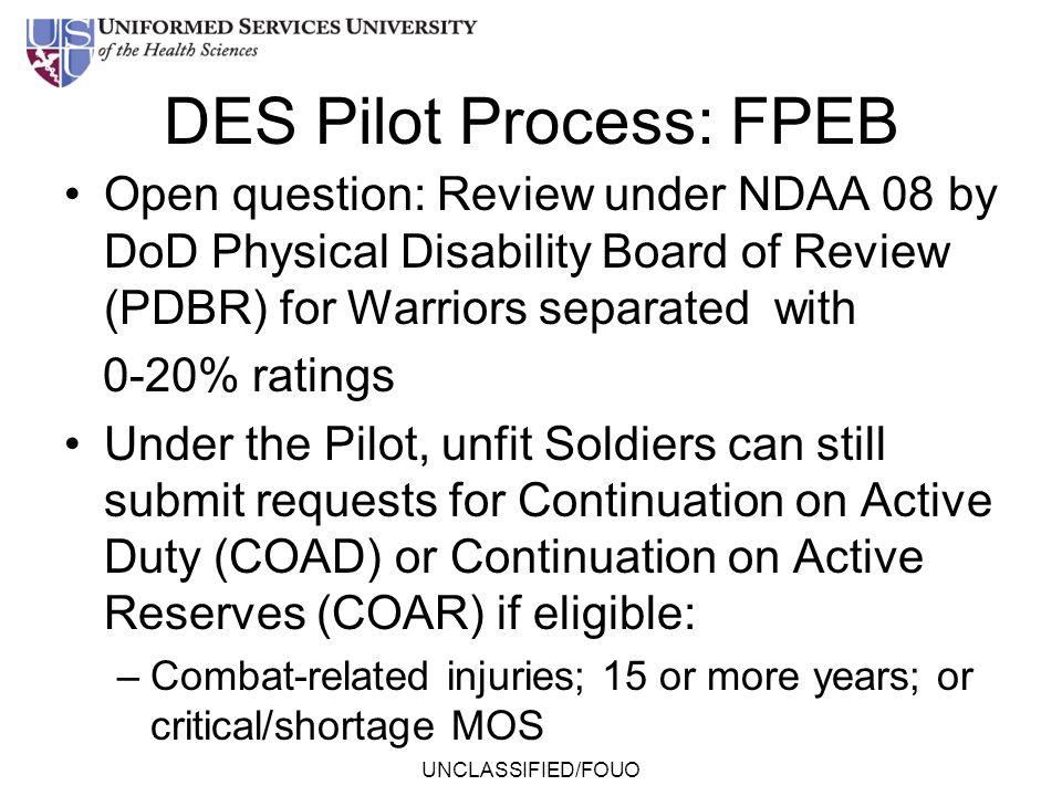 DES Pilot Process: FPEB