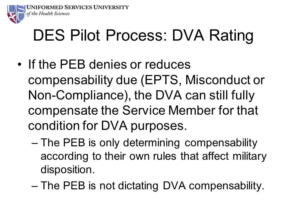 DES Pilot Process: DVA Rating