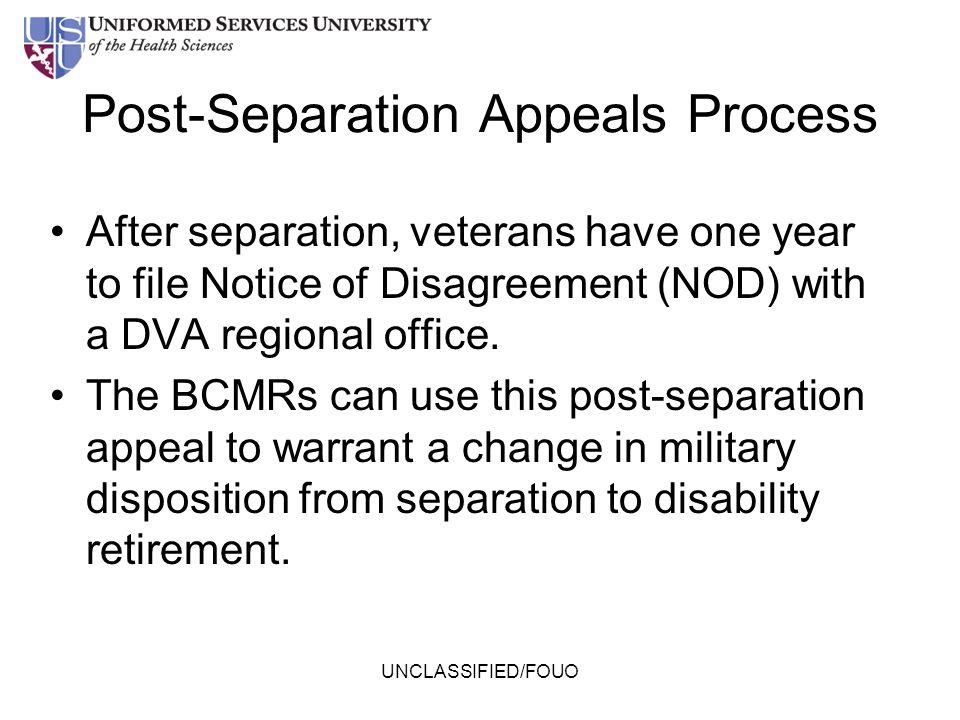 Post-Separation Appeals Process