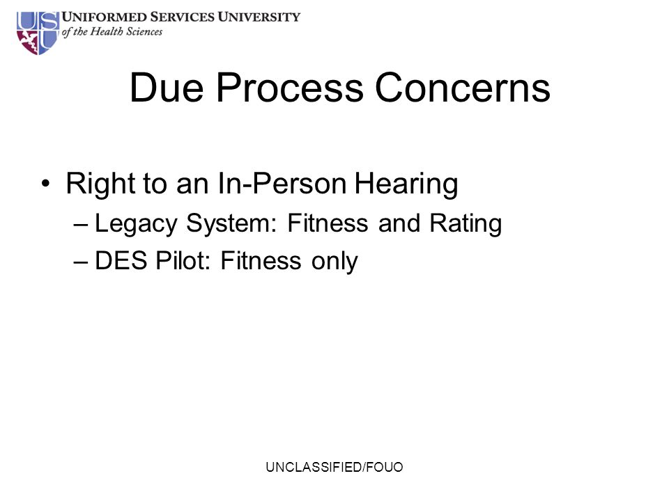 Due Process Concerns Right to an In-Person Hearing