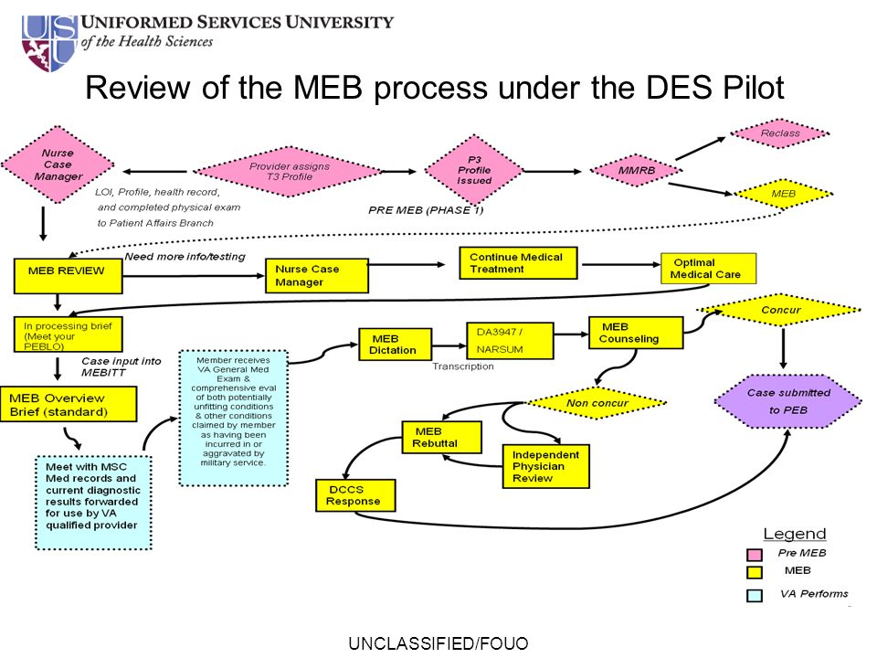 Review of the MEB process under the DES Pilot