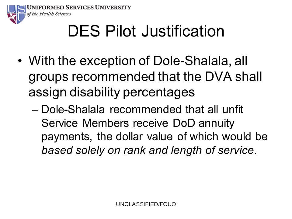 DES Pilot Justification
