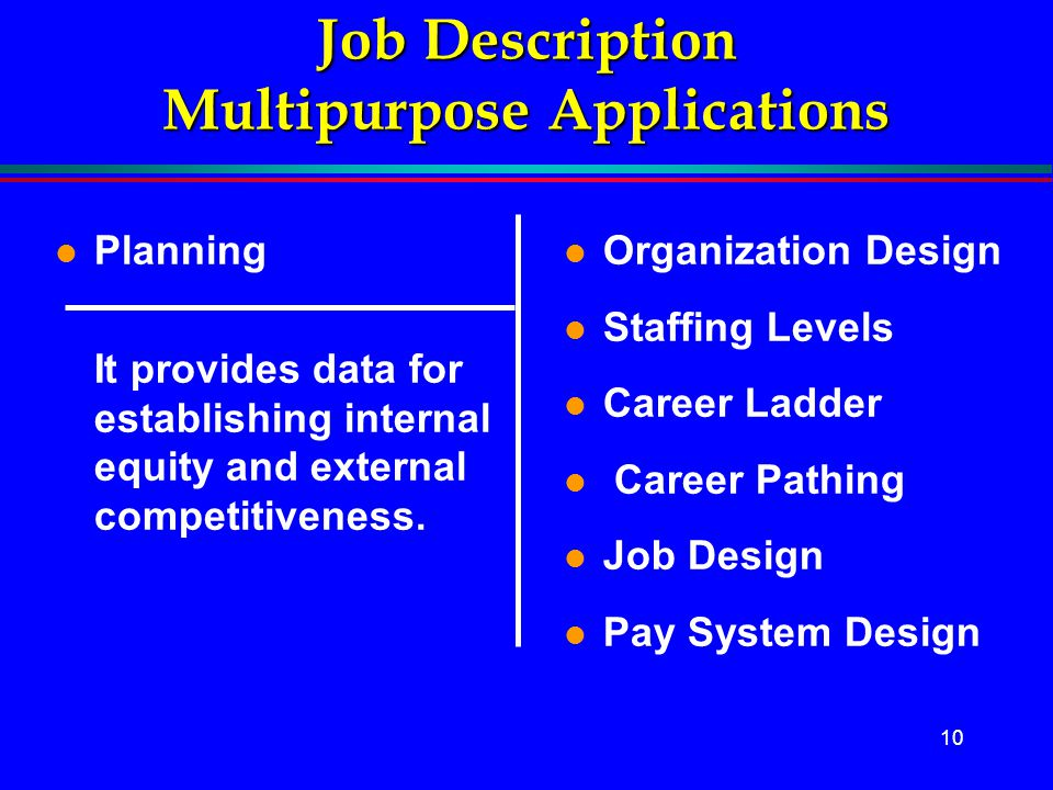 Job Description Multipurpose Applications