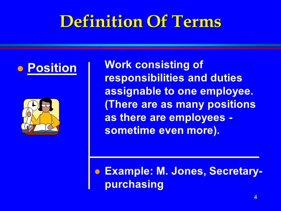 Definition Of Terms Position