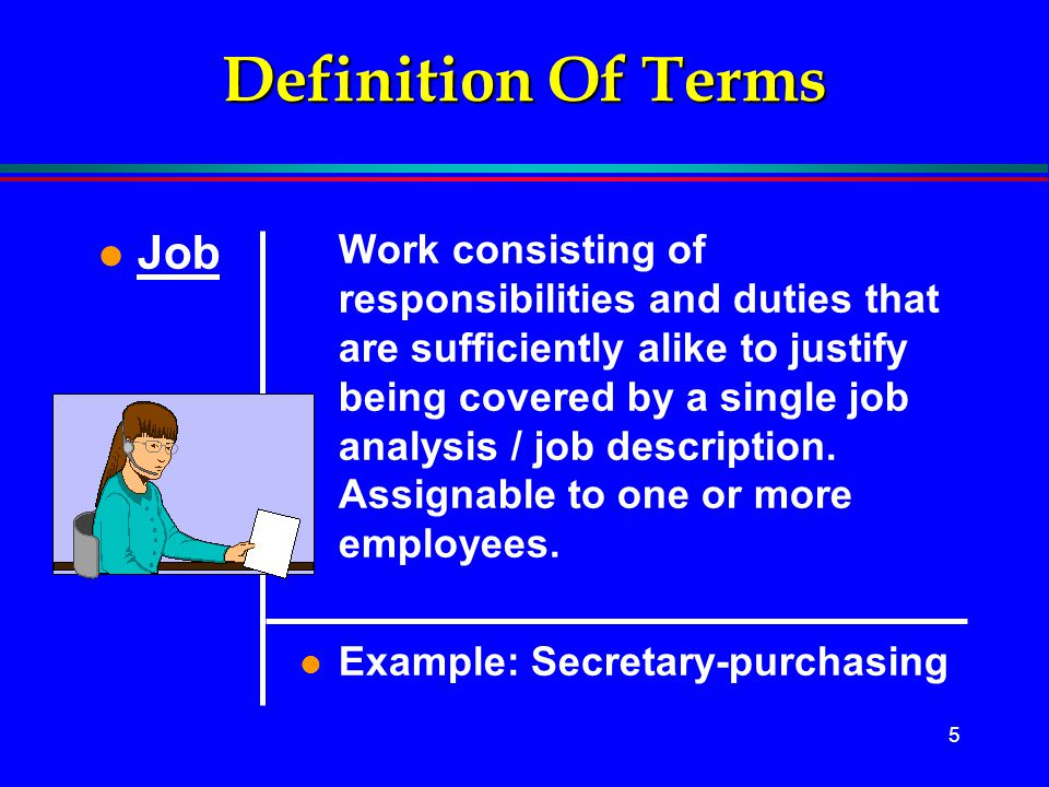 Definition Of Terms Job