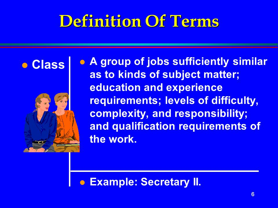 Definition Of Terms Class