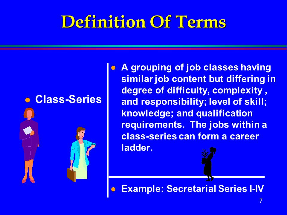 Definition Of Terms Class-Series