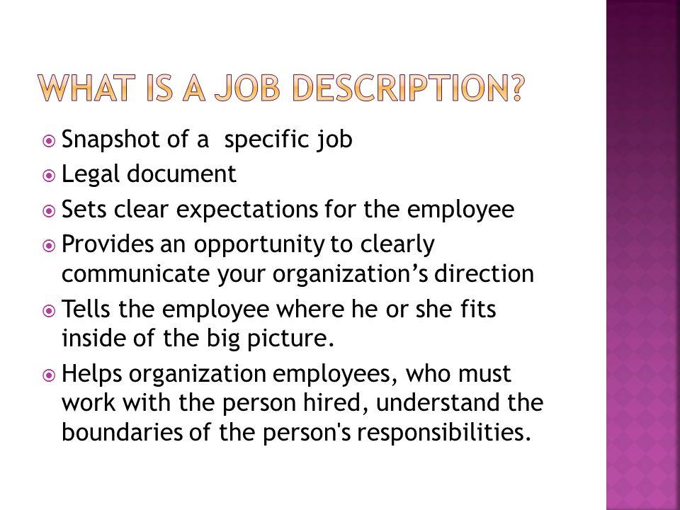 What is a job description