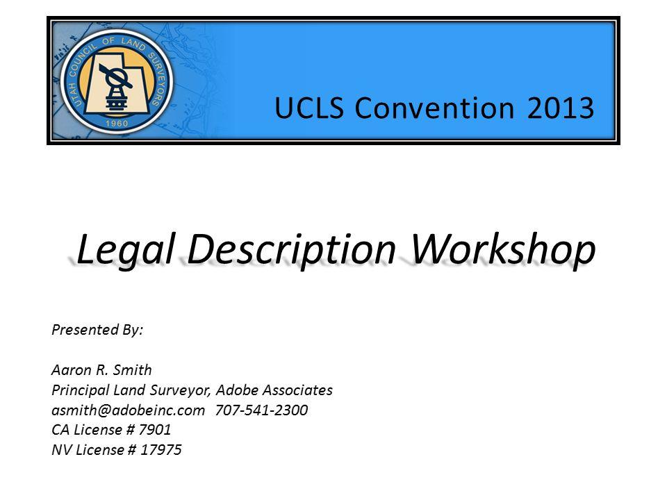 Legal Description Workshop