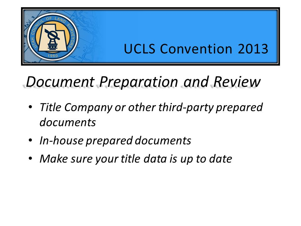Document Preparation and Review