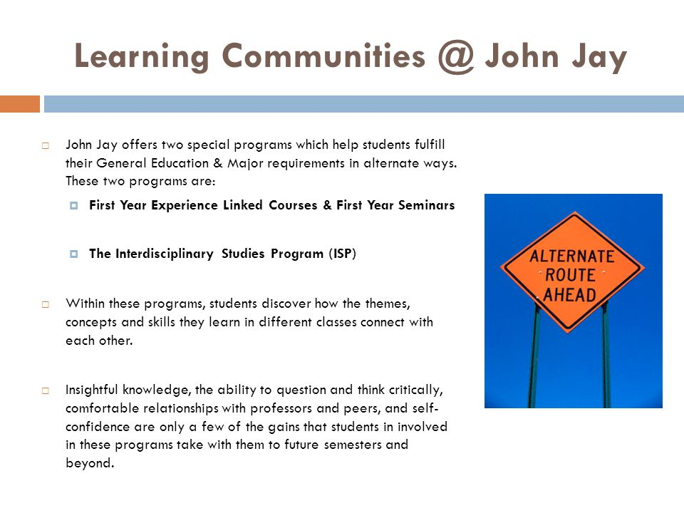 Learning Communities @ John Jay