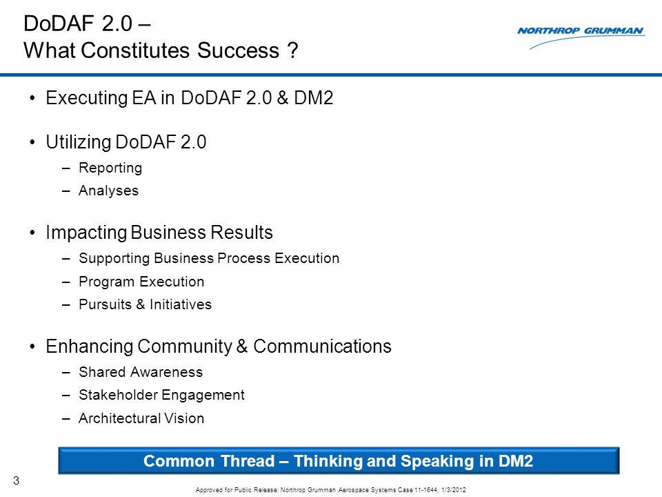 DoDAF 2.0 – What Constitutes Success