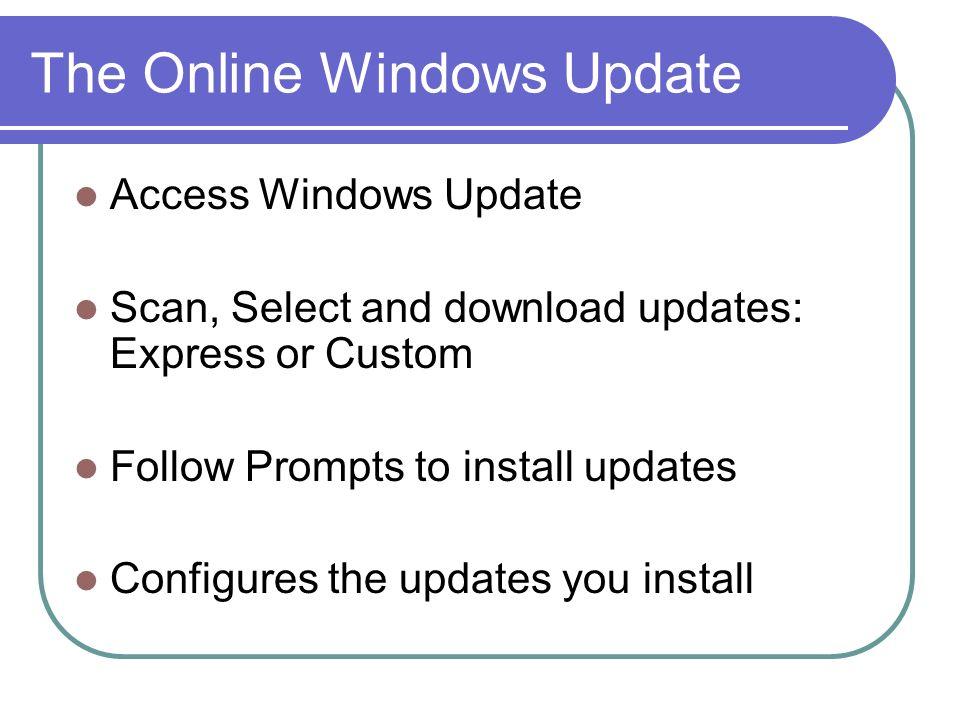 The Online Windows Update
