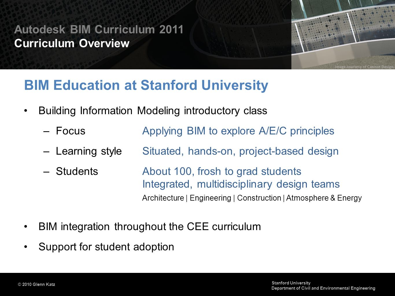 BIM Education at Stanford University