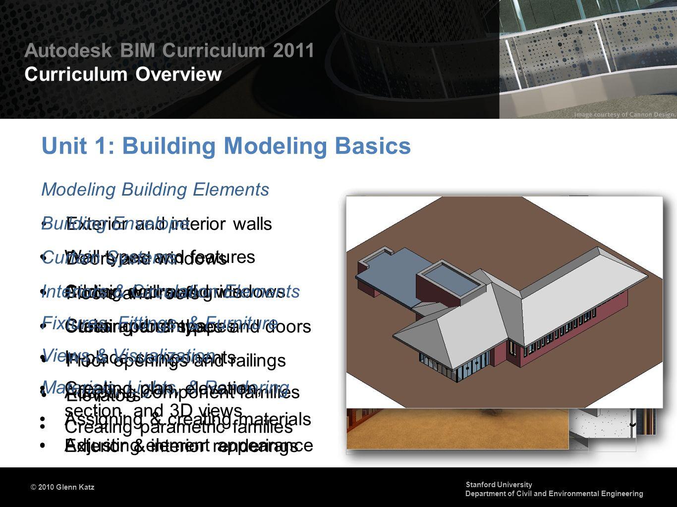 Unit 1: Building Modeling Basics