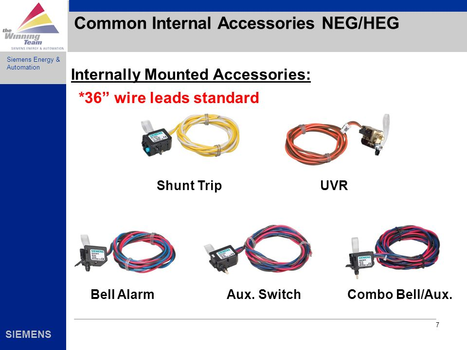 Common Internal Accessories NEG/HEG
