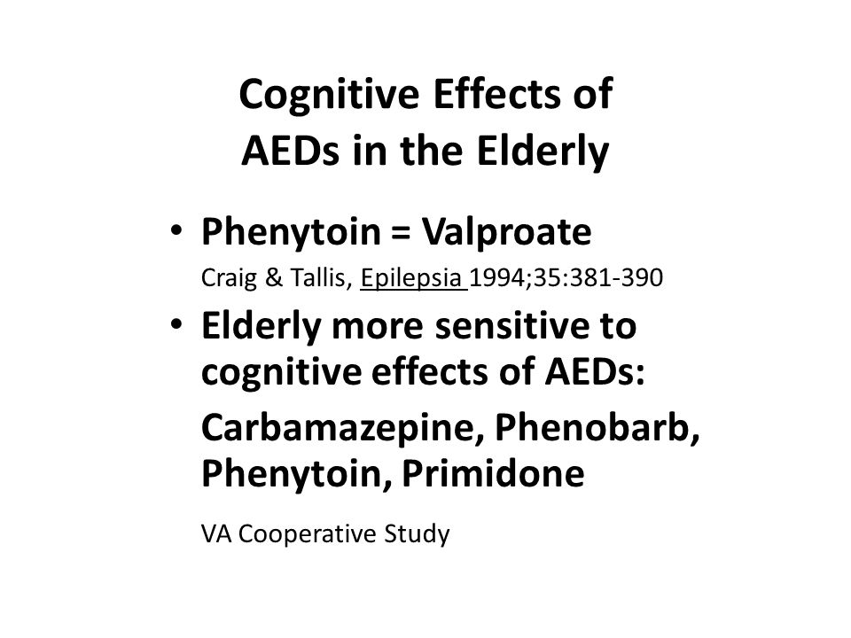 Cognitive Effects of AEDs in the Elderly
