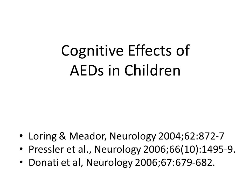 Cognitive Effects of AEDs in Children