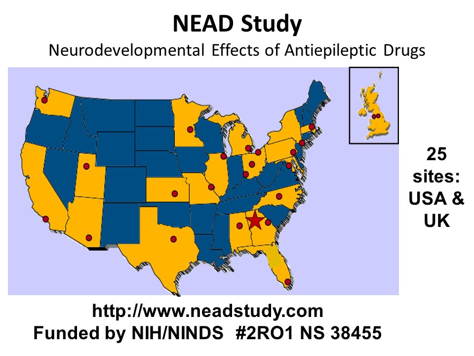 NEAD Study Neurodevelopmental Effects of Antiepileptic Drugs
