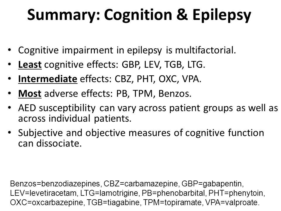 Summary: Cognition & Epilepsy