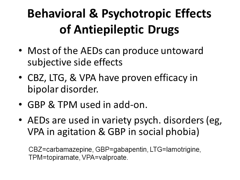 Behavioral & Psychotropic Effects of Antiepileptic Drugs