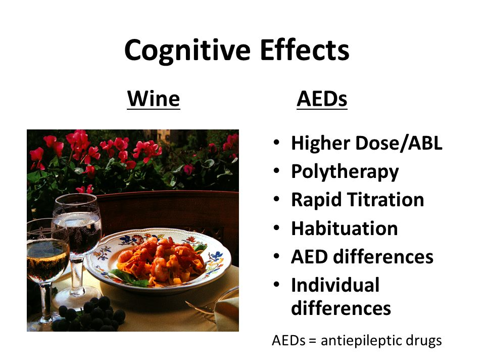 Cognitive Effects Wine AEDs