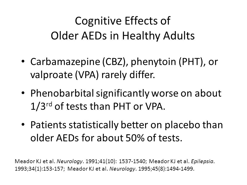 Cognitive Effects of Older AEDs in Healthy Adults
