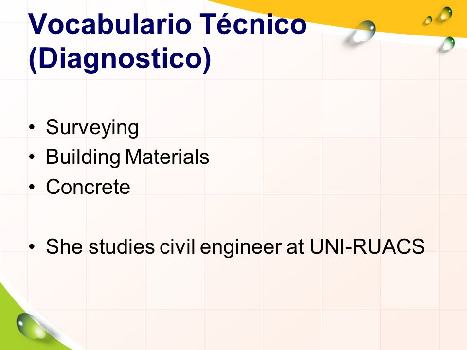 Vocabulario Técnico (Diagnostico)