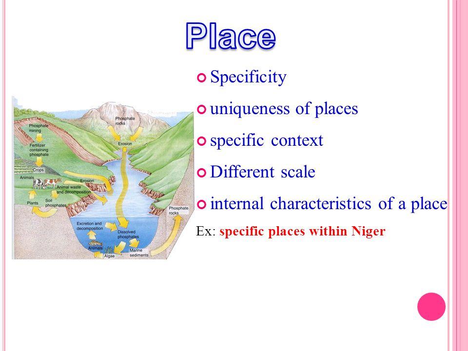 Place Specificity uniqueness of places specific context