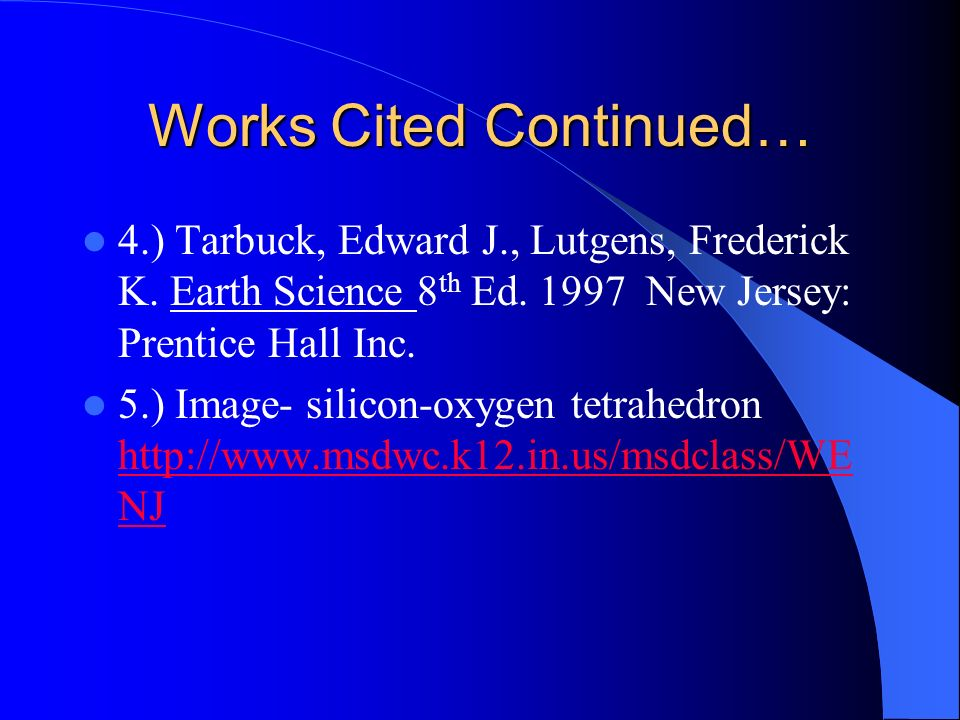 Works Cited Continued…