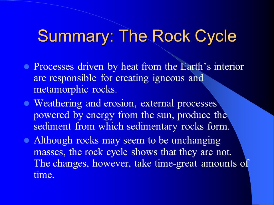Summary: The Rock Cycle
