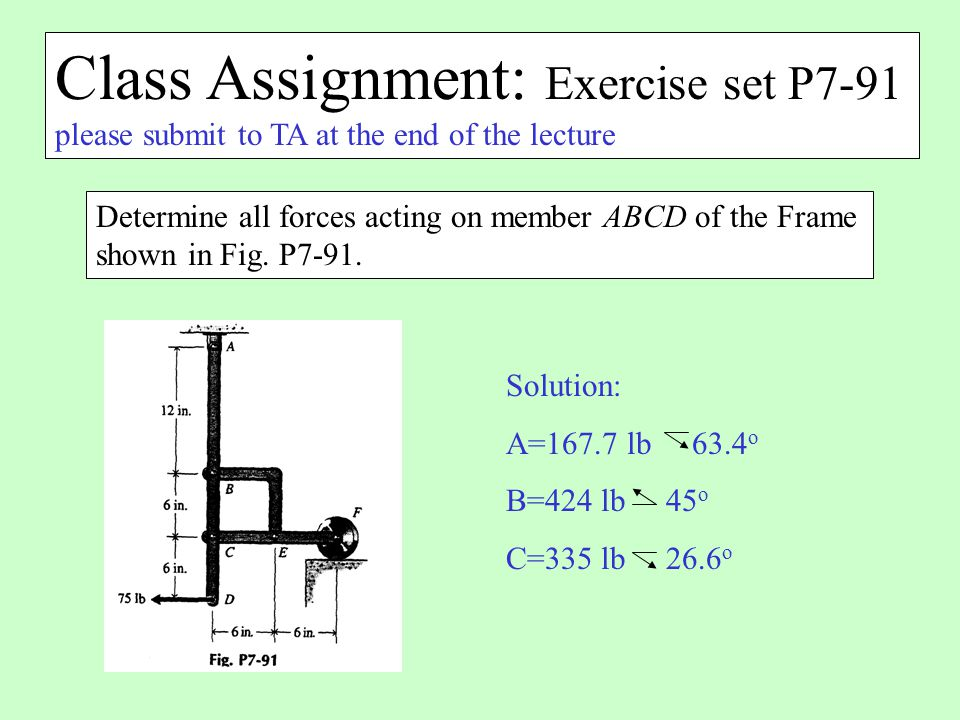 Class Assignment: Exercise set P7-91