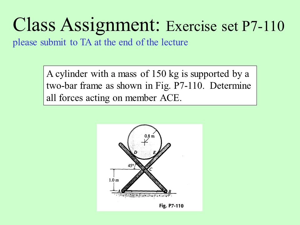 Class Assignment: Exercise set P7-110
