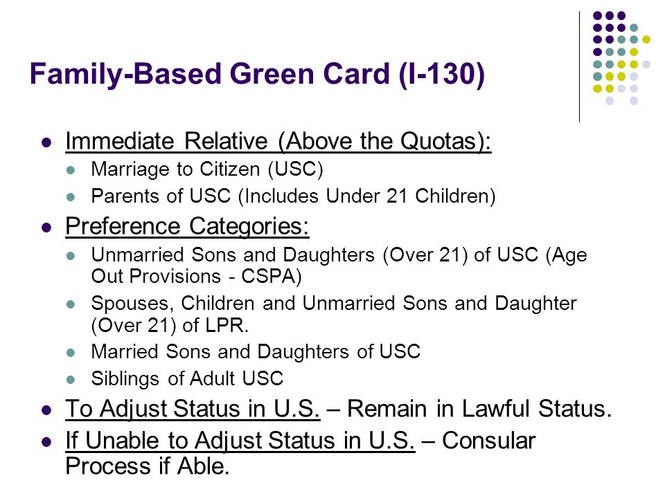 Family-Based Green Card (I-130)