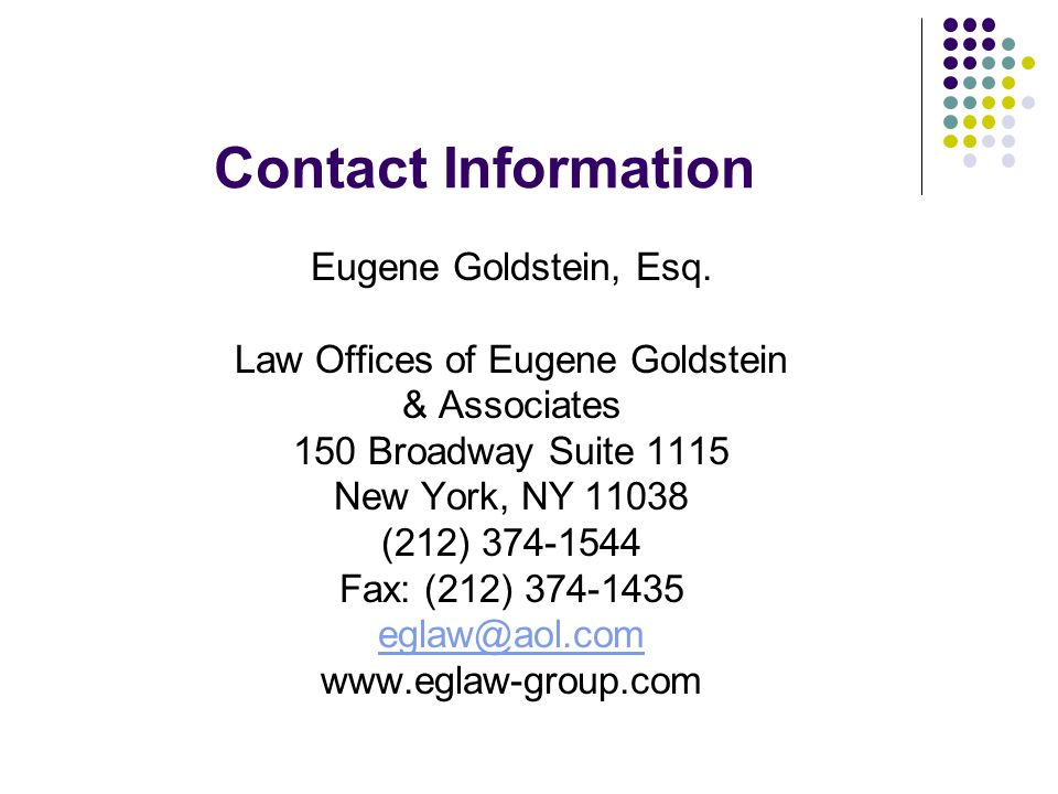 Law Offices of Eugene Goldstein