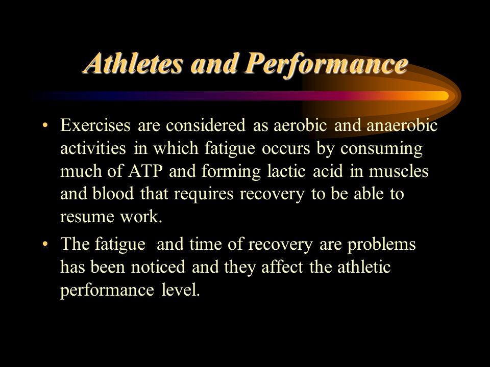 Athletes and Performance