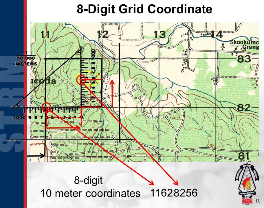 8-Digit Grid Coordinate