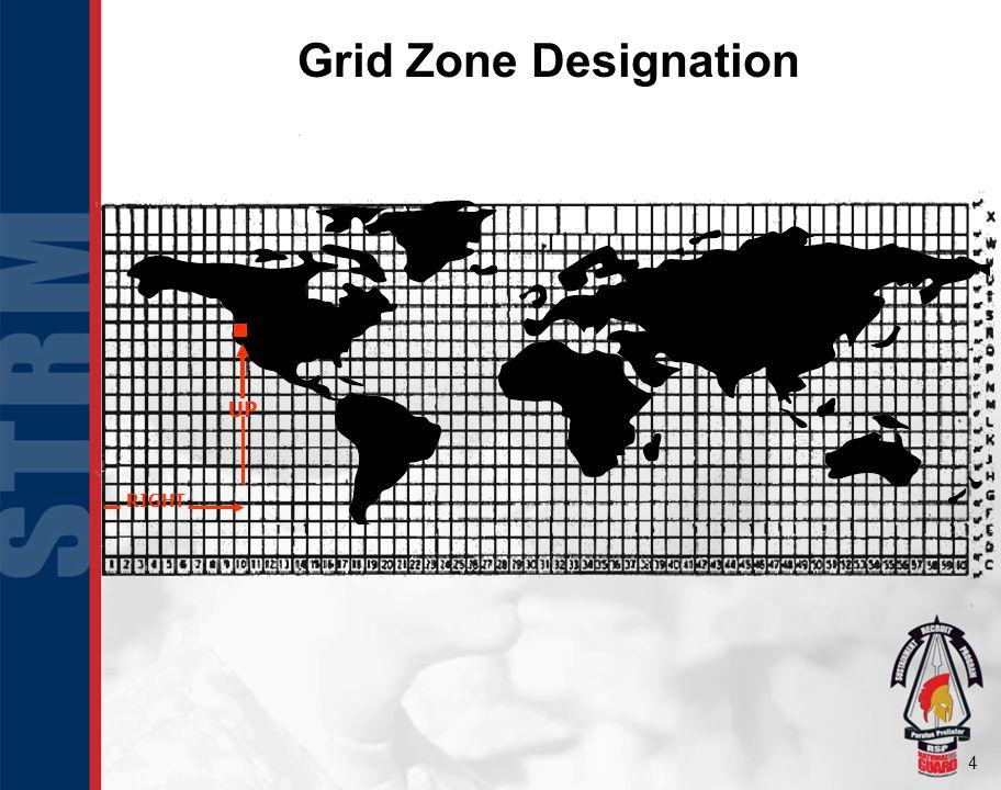 Grid Zone Designation UP RIGHT