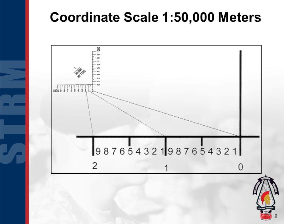 Coordinate Scale 1:50,000 Meters
