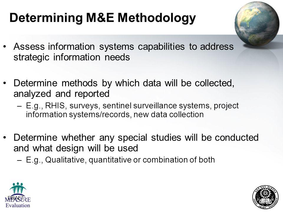 Determining M&E Methodology