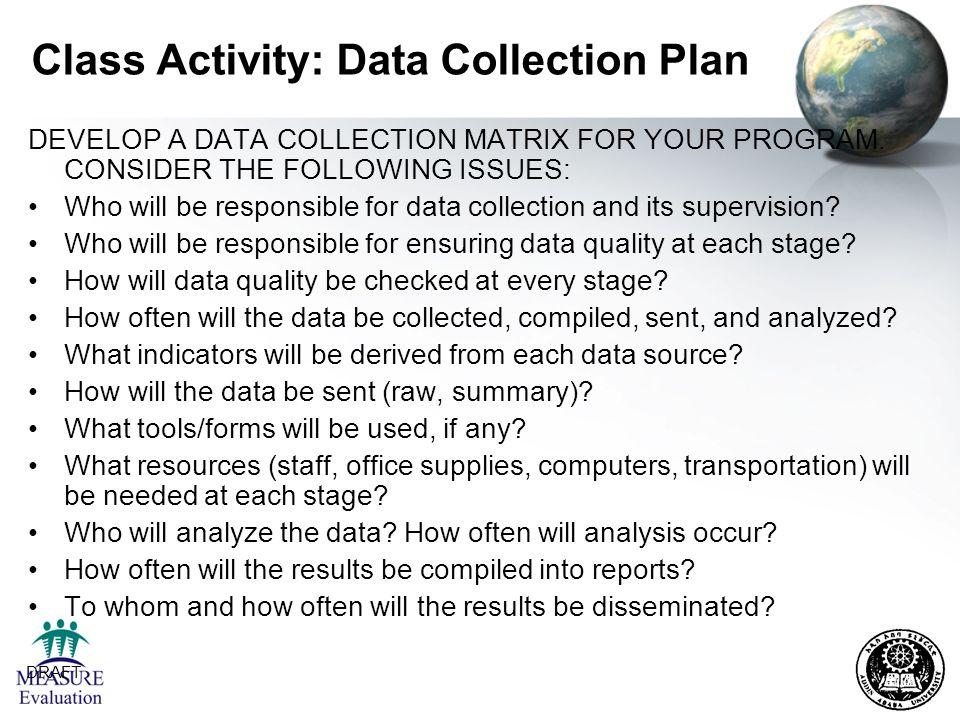 Class Activity: Data Collection Plan