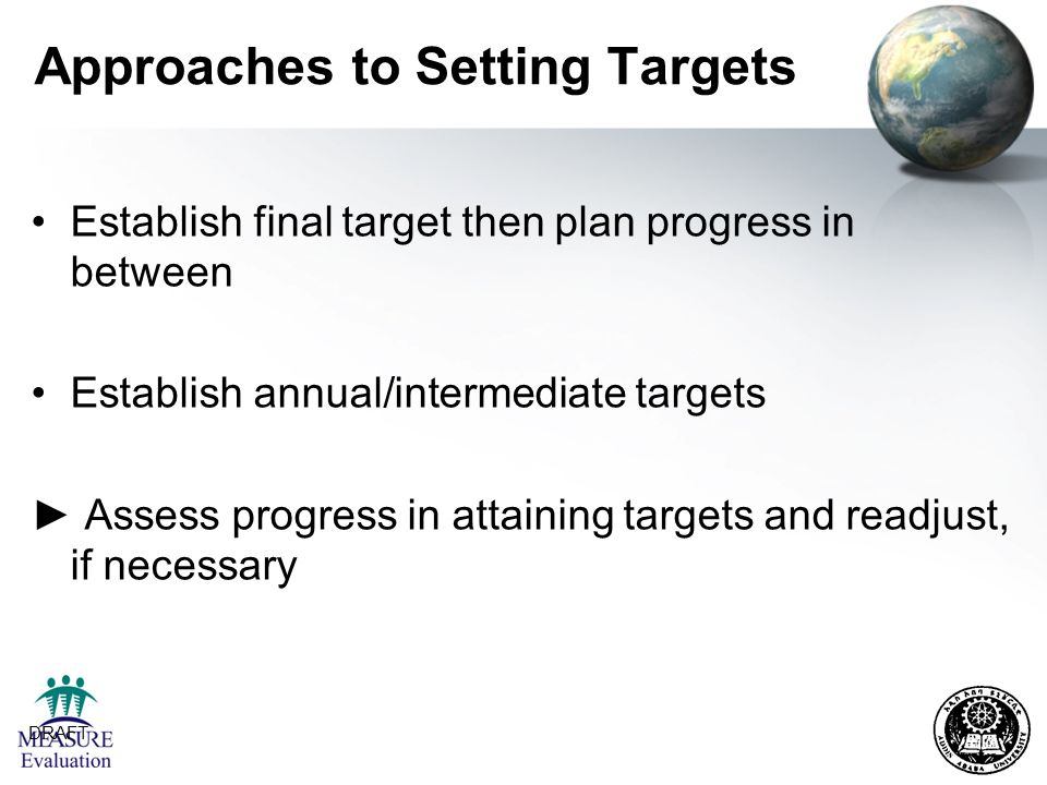 Approaches to Setting Targets