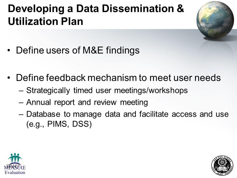 Developing a Data Dissemination & Utilization Plan